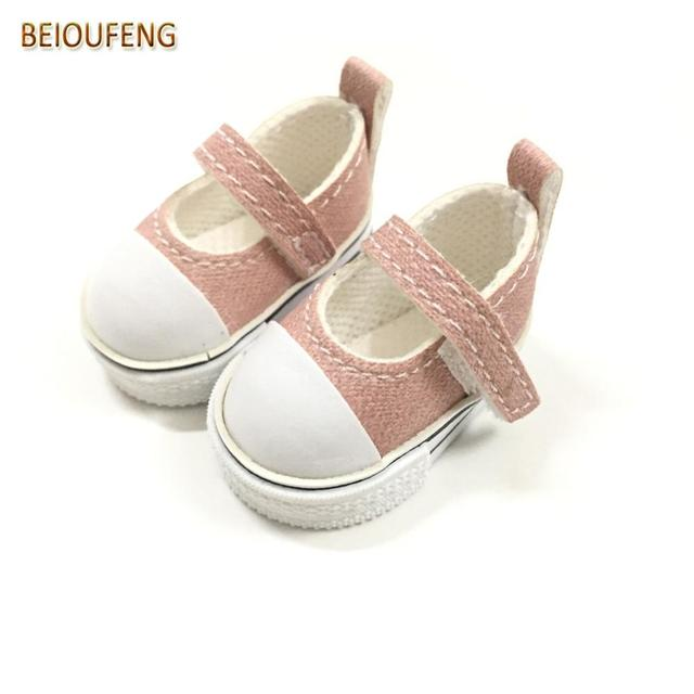 BEIOUFENG 5CM Doll Shoes Sneakers Shoes for Dolls,PU Leather Gym Shoes BJD Footwear Puppet Boots for Dolls Accessories 2Pair/Lot