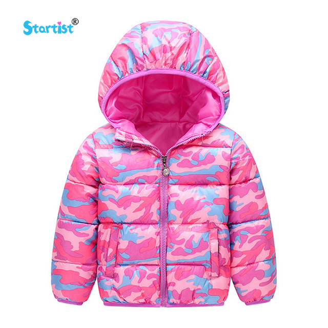 Startist Baby Girl Coat Warm Cotton Girls Jacket Hooded Camouflage Boys Outerwear Coat 3-7 T Children Clothing
