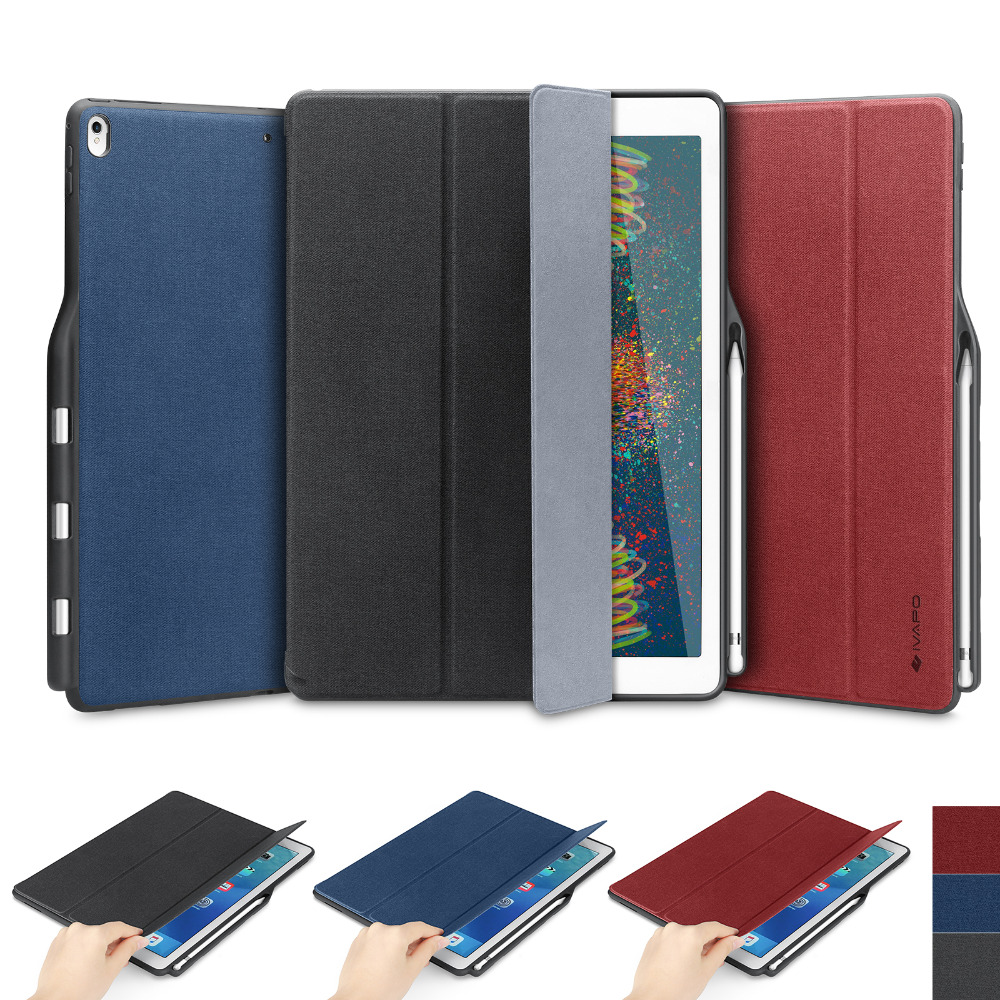 For iPad Pro 12.9 Case Leather Flip Case With Pencil Holder Auto Sleep Wake up Smart Cover For Apple iPad pro 12.9 2015&2017 стоимость