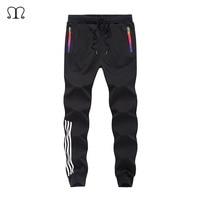 2017 Casual Skinny Zipper Botton Sweatpants Solid Hip Hop High Street Trousers Pants Men Joggers Slimming