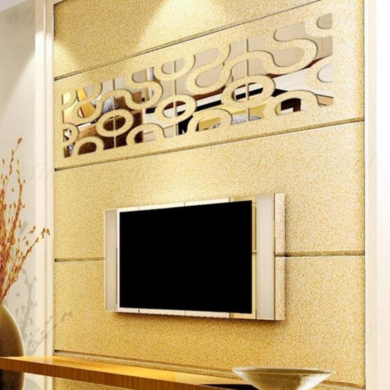 Wall sticker orologio a specchio FARFALLA FIORI soggiorno camera letto parete