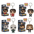 5 Styles Funko POP Harry Potter Keychain Hermione Granger Lord Voldemort Cute Pendant Figure Model PVC Keychain Christmas Gift
