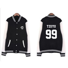 Kpop TWICE Yu Ping Jing Tao MOMO Zhou Ziyu Sana Ming Jing Nan Mina baseball uniform for men and women KPOP(China)