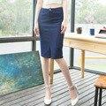 Moda 2016 mulheres denim senhoras saia jeans saias plus size saias de cintura alta casual mulheres pacote hip saia frete grátis 747