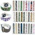 Flor colorida crânio banda esportes silicone para apple watch iwatch assista strap para apple watch série 2 pulseira de borracha 42/38mm