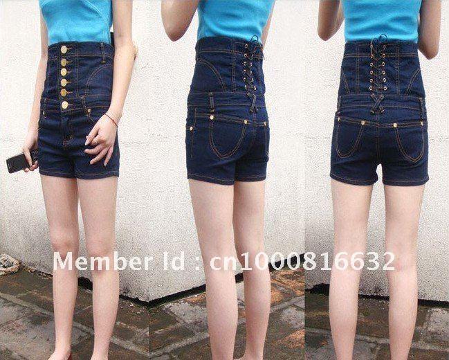 New Fashion Sexy Girl Denim High Waist Hot Shorts Jeans Pants ...