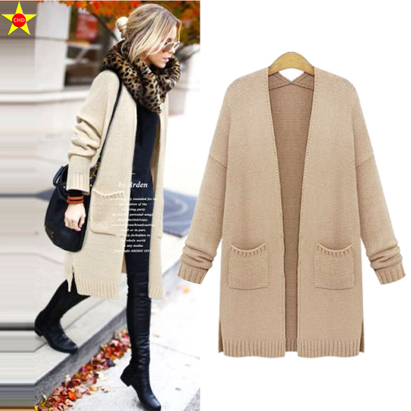 XL 5XL Plus Size Women Casual Sweater New 2019 Autumn Winter Fashion Loose Knitted Cardigans Sweater Open Stitch Elegant Sweater-in Cardigans from Women's Clothing    3