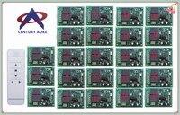 Века AOKE двигателя двери гаража проекционный экран/жалюзи DC12V rf Беспроводной Дистанционное управление коммутатора и 23 * приемники + 1 * удален