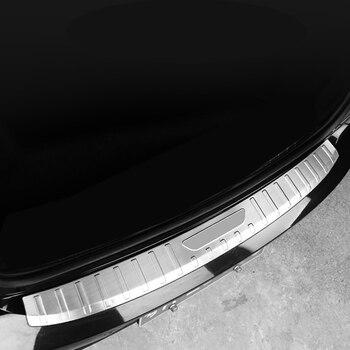 Dla Volvo S90 2017 2018 2019 samochodów stylizacji akcesoria zewnętrzne tylnego bagażnika zewnętrzna ochraniacz zderzaka straży próg osłona podstawy