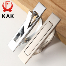 KAK Tatami Hidden Door Handles Zinc Alloy Recessed Flush Pull Cover Floor Cabinet Handle Bright Chrome Dark Furniture Hardware