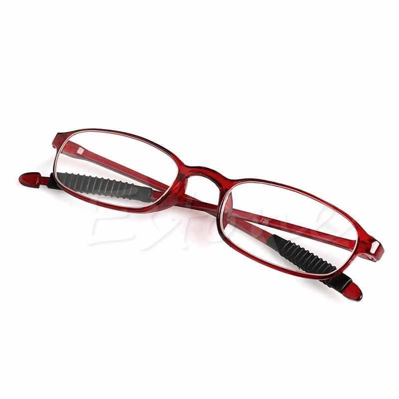 ใหม่TR90ผู้หญิงผู้ชายที่มีความยืดหยุ่นแว่นอ่านหนังสืออ่านความแข็งแรงPresbyopicแว่นตา