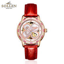 Clover ladies watch wholesale waterproof automatic mechanical watch female hollow women watch