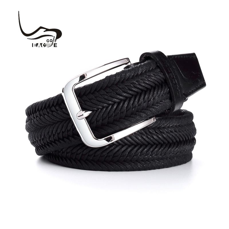 EAGEGOF High quality Golf Belt Men s sports belt Black fashion Braided belt Not deformed outdoor