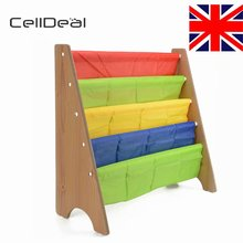 CellDeal Children Kids Book Storge Rack Bookcase Bookshelf Tidy Shelf Furniture Shelves for Books Bedroom Shelving