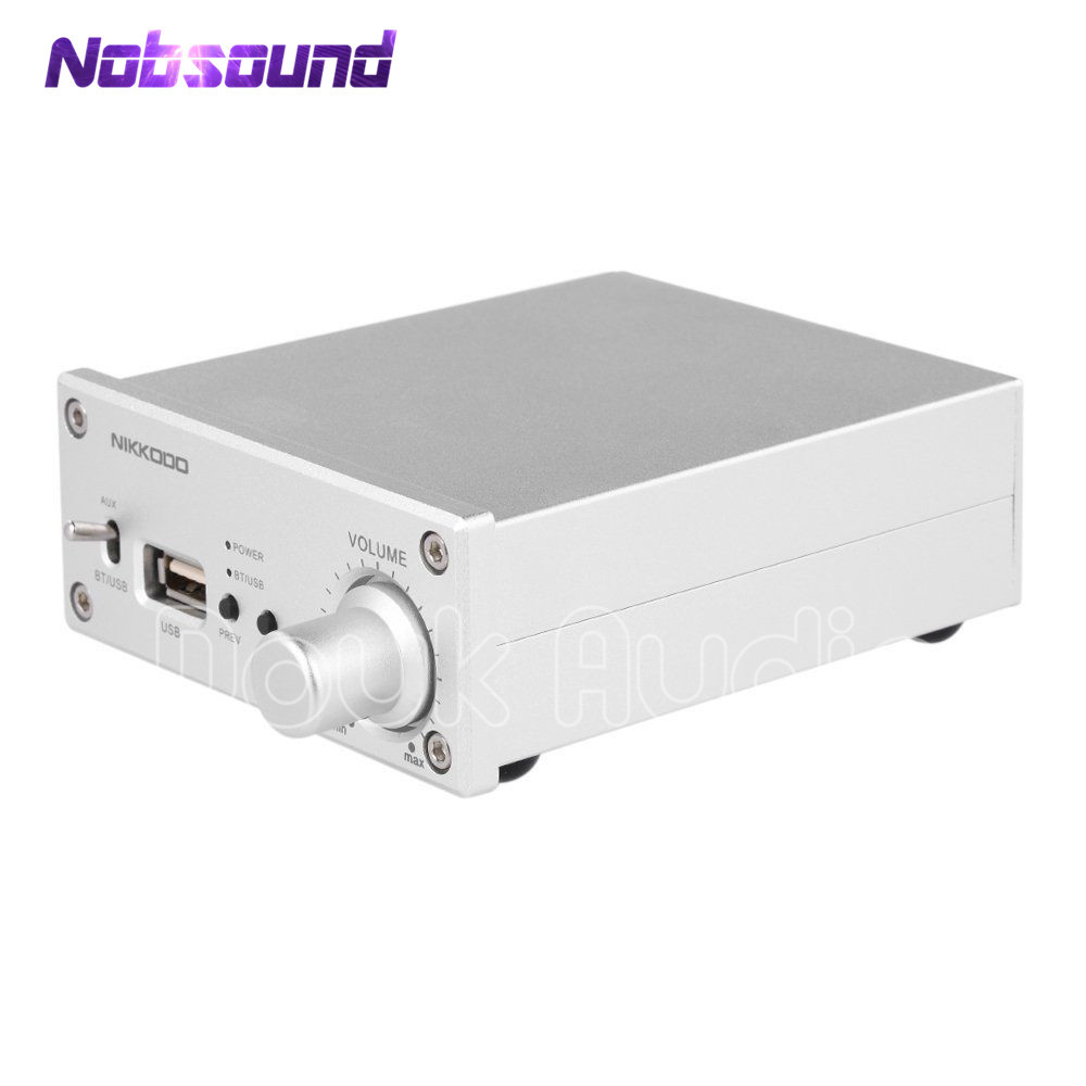 Digital Audio Amplifier Bluetooth 4.0 Stereo Amp HiFi USB Lossless Music Player 100W new nobsound pm5 tube amplifier with bluetooth nfc usb flac lossless music player hifi stereo amp audio amplifier 80w 80w