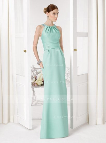 Mint Green Bridesmiad Dresses Long 2017 Halter Plus Size Beach ...