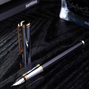 Image 3 - Venus All   metal fountain pen gothic art  pen Arabic Persian mijit calligraphy black golden  5 mm Multi functional nib gift
