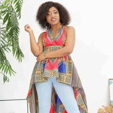 Shenbolen African Clothes for Women Dashiki Fashion Top Traditional Shirt Summer T- shirt Cotton Fabric