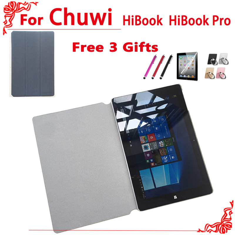 HiBook Pro case PU Leather Case For CHUWI HiBook Pro / HiBook / Hi10 Pro Tablet PC + free 3 gifts 10 inch folding premium pu leather cover for chuwi hi9 air case 360 degree rotating for chuwi hibook hi10 pro tablet stand cases