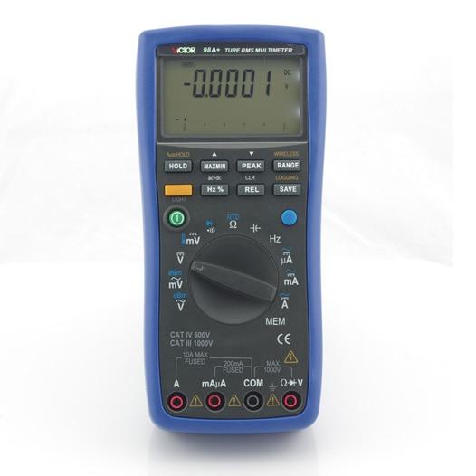 Виктор 98A интеллектуальный цифровой мультиметр Цифровой Тестер электрический