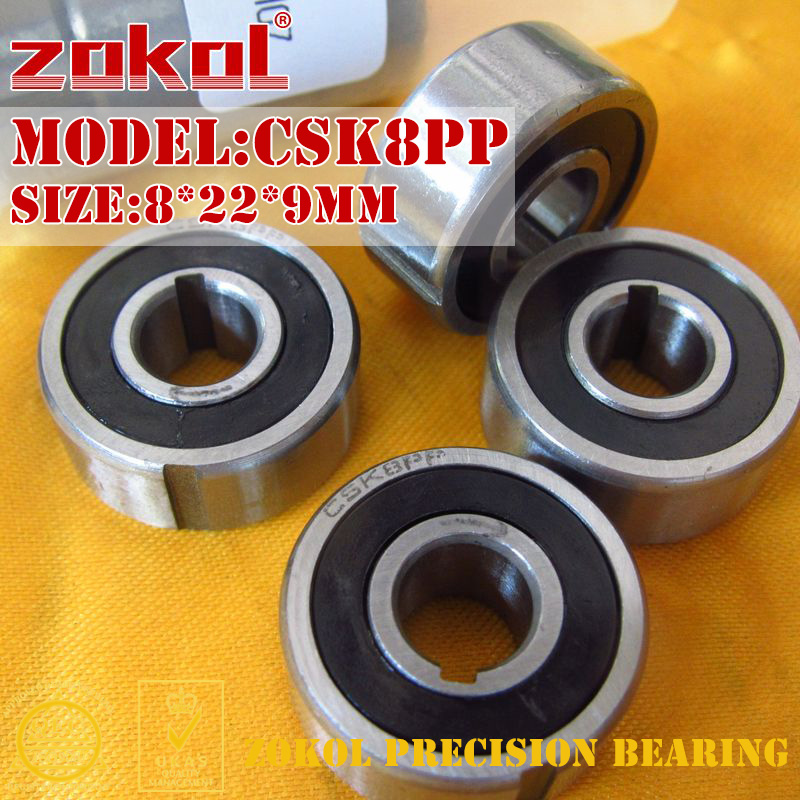 ZOKOL CSK08PP Bearing CSK8 PP 608 Double-Groove CSK08 One Way Clutch Bearing 8*22*9mm