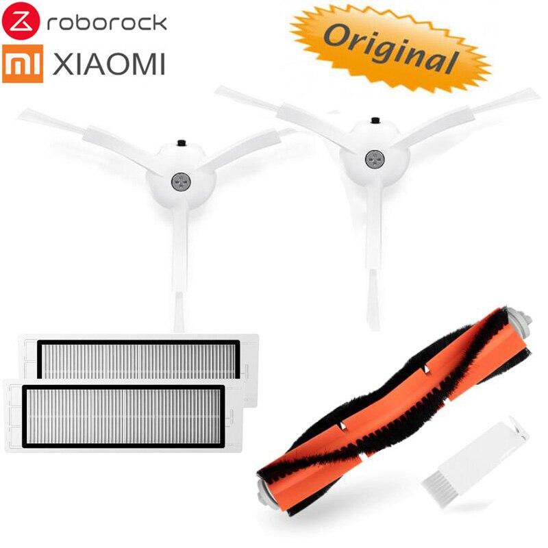Original Xiaomi/Roborock Robotic Vacuum Replacement Part Pack of Wahsable HEPA Filter,Main Brush,Mopping cloth,Side Brush