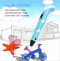 Nouveau meilleur vente imprimante 3D stylo en plastique pour bricolage 3 D stylo d'impression avec 100CM ABS PLA Filament cadeau de jouet créatif pour les enfants