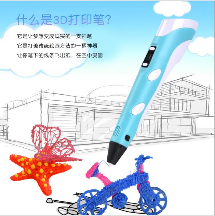 New Best Selling Printer 3D Pen  Plastic For DIY 3 D Printing Pen With 100CM ABS PLA Filament Creative Toy Gift For Kids