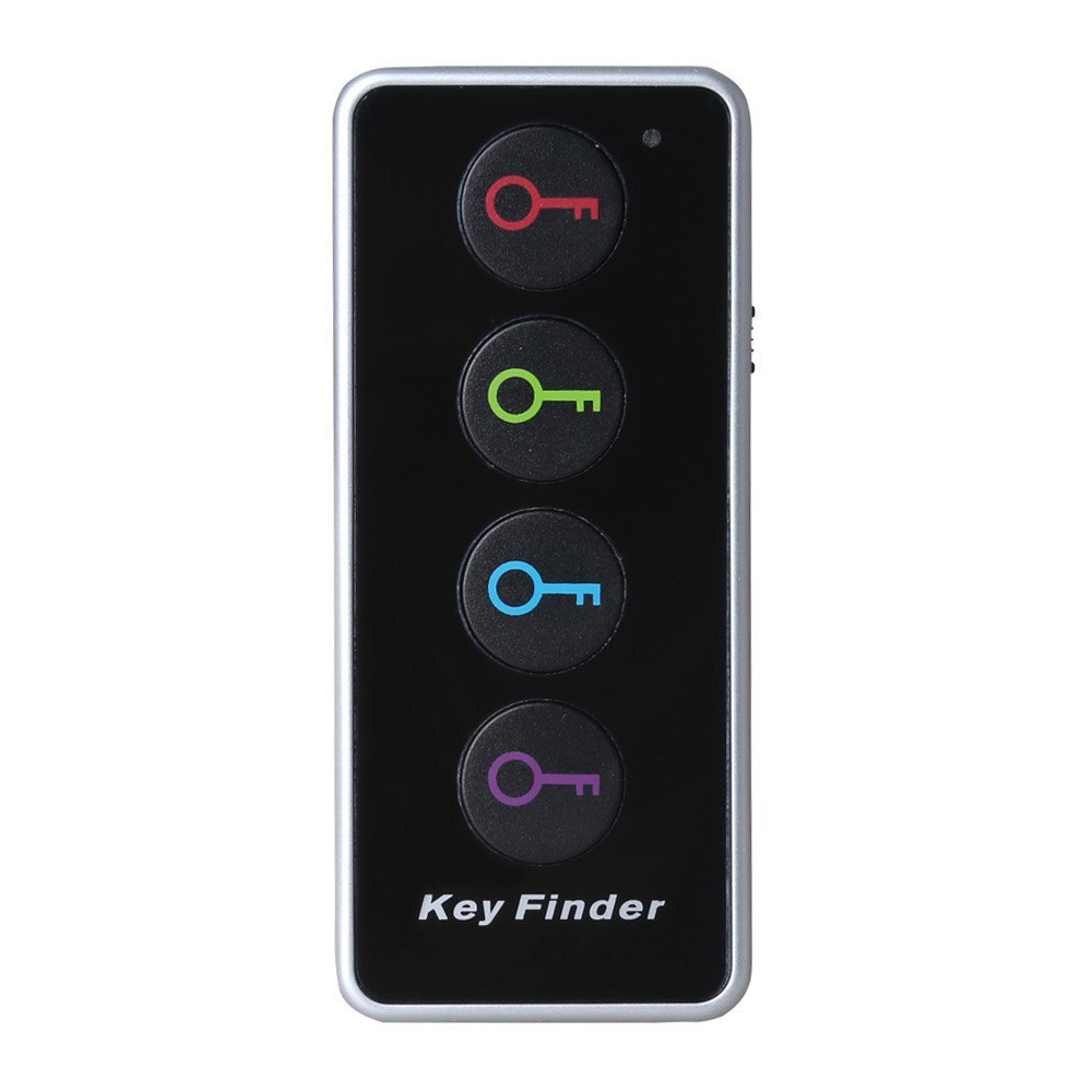 5 Packs 4-in-1 Remote Wireless Anti Lost Electronic Key Wallet Finder Lost Stuff Alarm Locator Transmitter Receiver Set sound activated 433 92mhz 1 to 1 wireless key finder blue black 1 x cr2032