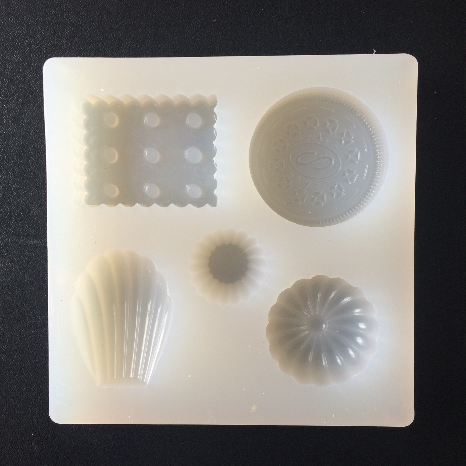 DIY Silicone Cake Fondant Mold Shell Oreo Cookies Mould  H224