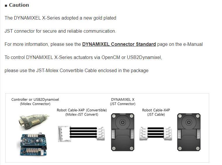 DYNAMIXEL XH430-W350-R Coréia ROBOTIS Dynamixel X série Atuador braço mecânico leme