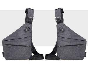 QIUYIN Chest Pack Bag 2019 Brand New Men Vintage Canvas Leather Satchel Shoulder Canvas Fanny Pack Fashion Street