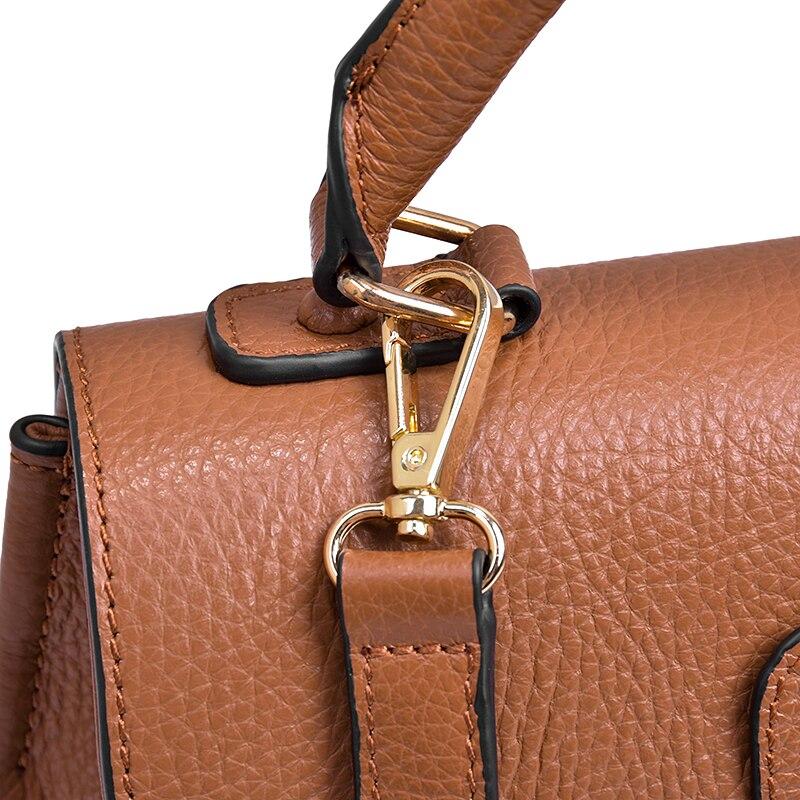 Bagaj ve Çantalar'ten Üstten Saplı Çanta'de Luxurty Marka Kadın Çanta Hakiki Deri omuzdan askili çanta Inek Deri Çanta Bayan Messenger Moda çapraz vücut kadın çantası'da  Grup 3