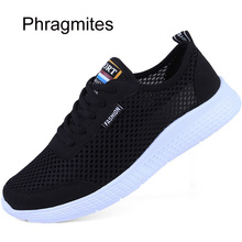 Phragmites Summer Breathable Casual Shoes Men Air Mesh Sport Shoes Running Shoes Hot Sale Lover Sneakers Chaussure Homme 2018 hot sale woman sneakers sport shoes breathable autumn athletic anti slip casual mesh shoes