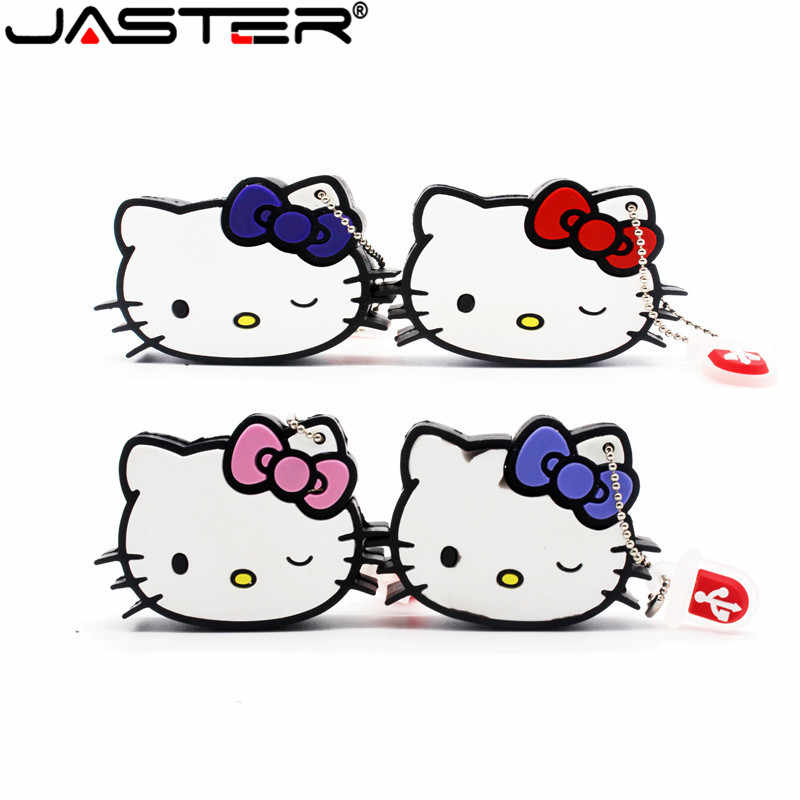 JASTER Olá kitty usb flash drive linda pendrive 4 gb 8 gb gb gb 64 32 16 gb memory stick u disco usb 2.0 flash disk pen drive