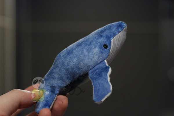 Blu balena pesce giocattolo della peluche blu balena figurine decorazione balena ornamenti figurine regalo di 12 cm