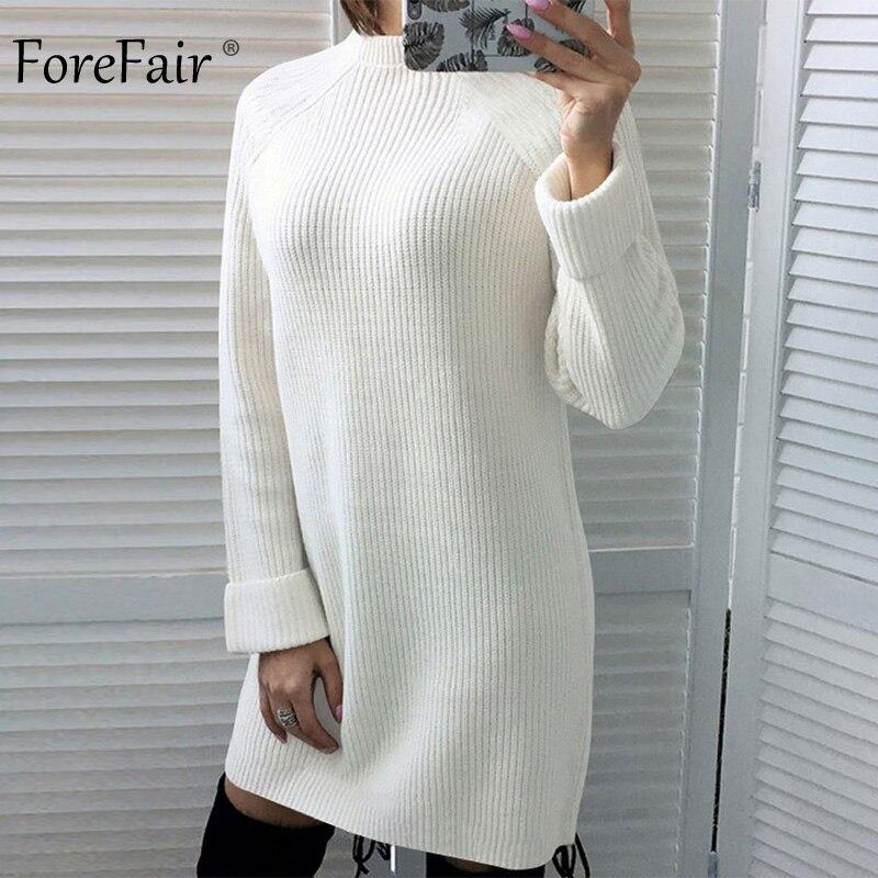 9af325126e Aliexpress.com : Buy Forefair Casual Sweater Dress Women Autumn 2018 ...