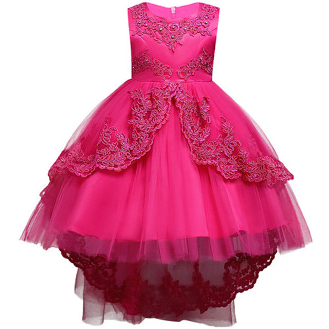 Summer Kids Formal Dress For Girls Clothes Flower Pageant Birthday Party Princess Dress Girl Clothes 14 years