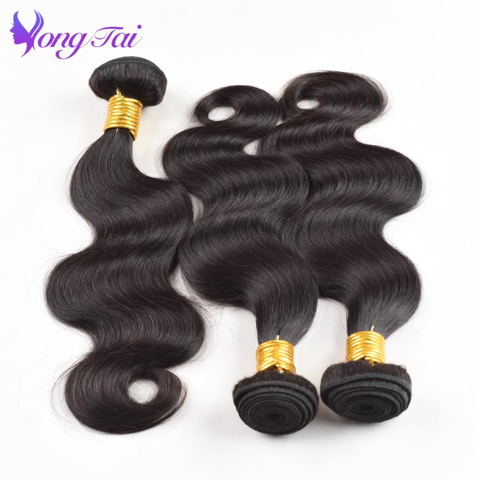 Yuyongtai Hair Products Malaysia Body Wave Human Hair 3 Bundles 100% Remy Hair Weaves Natural Color 10-26 Inch Clean & Shinny