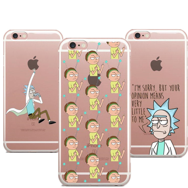rick and morty coque iphone 8