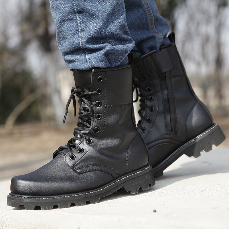 Outdoor Tactical Military Boots Men Hiking Shoes Mountain Sapato Masculino Army Combat Non slip Tatico Black