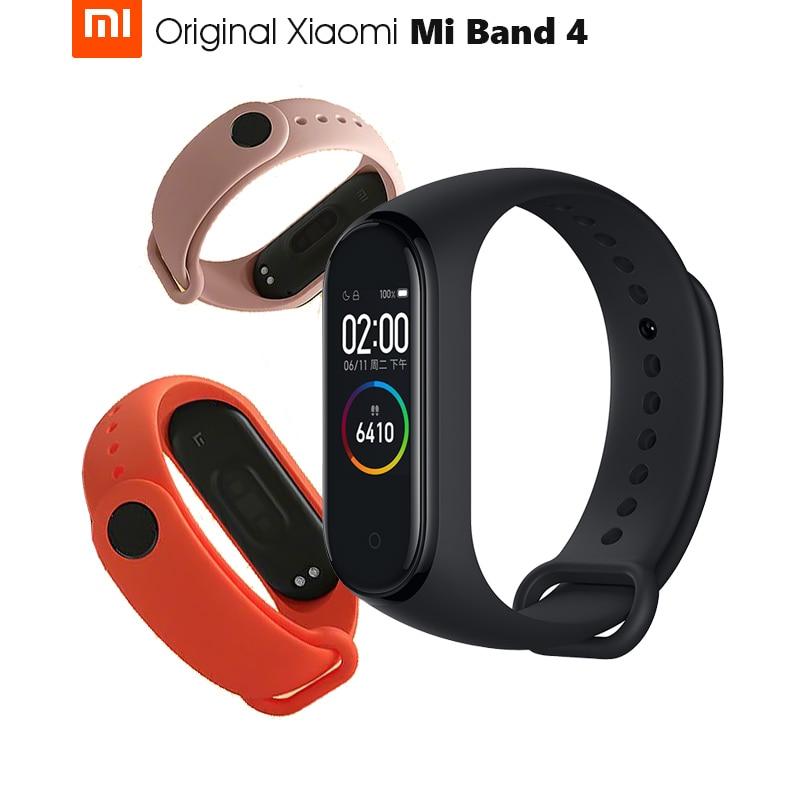 Original Xiaomi Mi Band 4 Smart Band 4 Wristband Fitness Bracelet Music Control Bracelet Bluetooth 5 Amoled Color Touch Screen Smart Wristbands Aliexpress