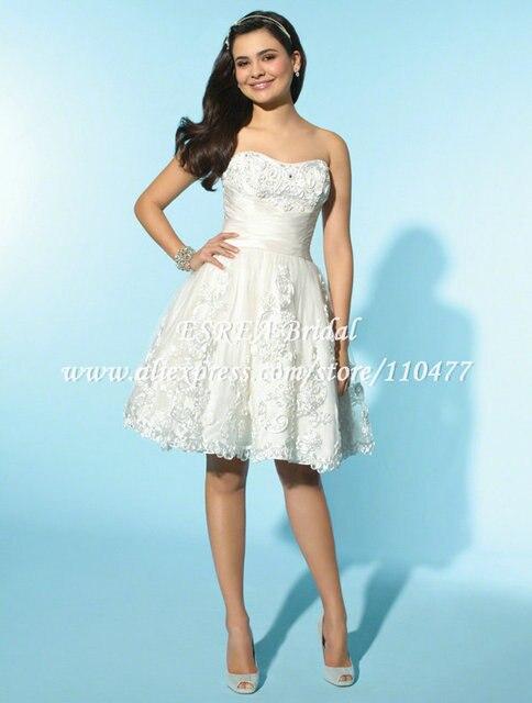MC076 Princess White Satin Appliqued Off Shoulder Wedding Dress ...