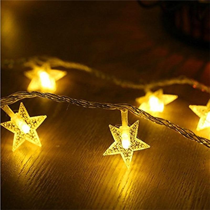 ECLH 1/3 M LED étoiles guirlandes lumineuses LED fée lumières de décoration de mariage de noël lumières batterie fonctionnement lumières scintillantes