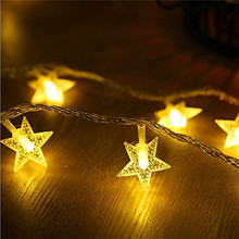 Lights Battery-Operate Wedding-Decoration Star-String LED Christmas ECLH 1/3m