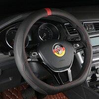 D Ring Leather Car Steering Wheel Cover For Volkswagen VW Golf 7 Mk7 GTI R Passat B8 new Magotan Polo Jetta Scirocco 2015 2016