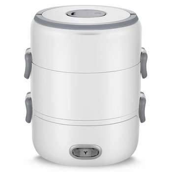 300W Electric Lunch Box Ceramic Liner Heating Cooking Insulation Plug-In 3 Layer Large Capacity Rice Cooker Lunch Box Eu Plug