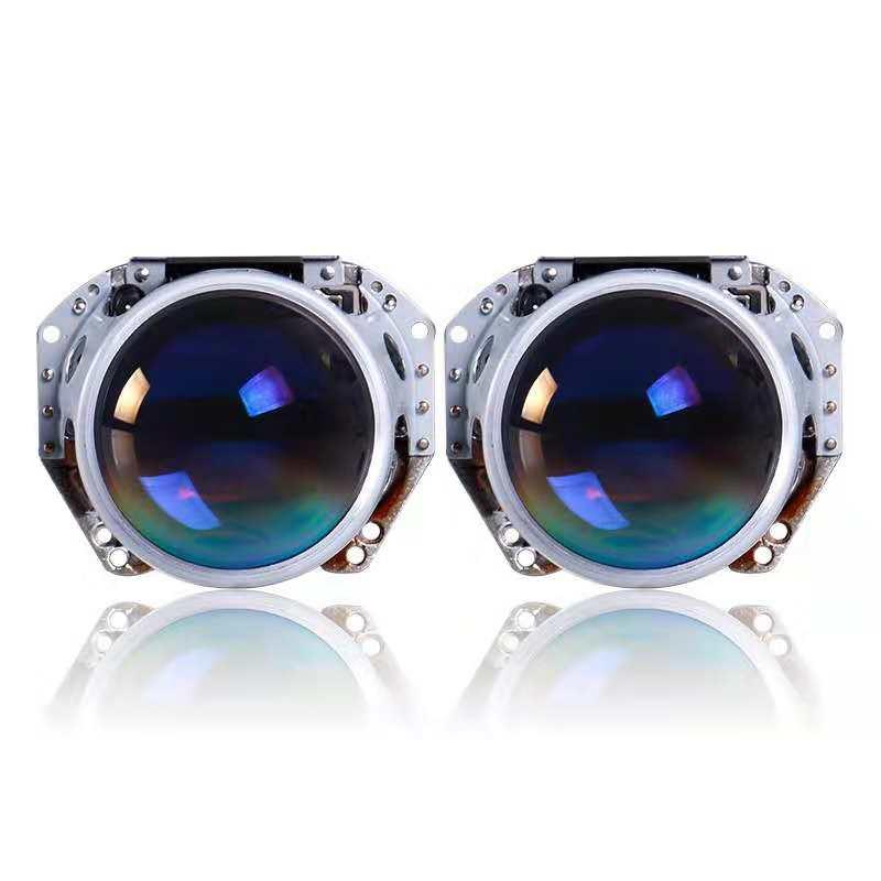 HID Bixenon pour projecteur Hella G5 Film bleu lentille Auto voiture phare phare rénovation bricolage D1S D2S D3S D4S mise à niveau 3.0''