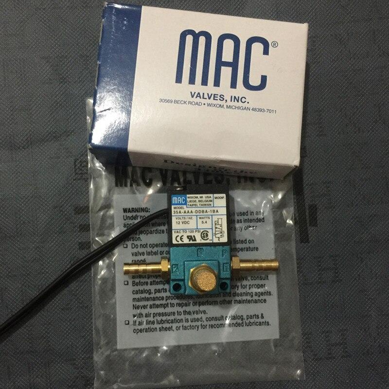 عالية الجودة 12 فولت ماك 3 ميناء الإلكترونية دفعة التحكم الملف اللولبي صمام 35A-AAA-DDBA-1BA 5.4 واط مع مجموعات النحاس