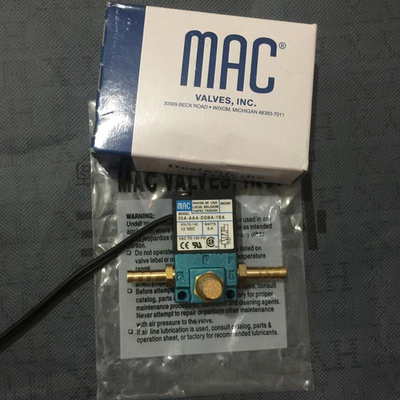 Válvula Solenoide de control de impulso electrónico de 3 puertos MAC 12v de alta calidad 35A-AAA-DDBA-1BA 5,4 W con kits de latón